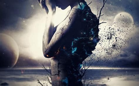 wallpaper  planets surreal girl mood sadness