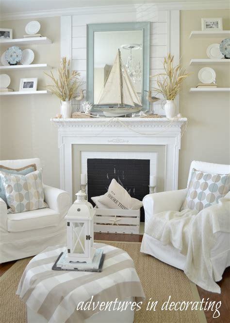 coastal living decor adventures in decorating our coastal sitting room