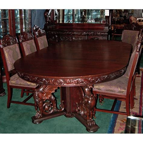 Antique Dining Room Furniture For Sale R J Horner 16 Pc Winged Griffin Carved Mahogany Dining Room Set For Sale Antiques