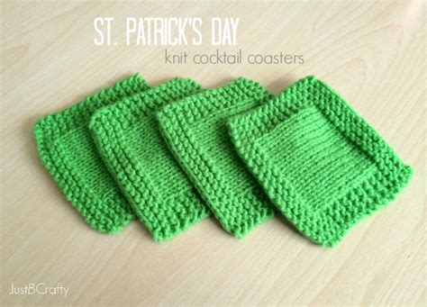 how to knit a coaster st s day knit cocktail coasters just b crafty
