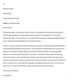 Wording For Resignation Letter by Resignation Letter Format Employment Work
