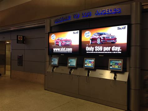 los angeles airport kiosks sixt rent  car