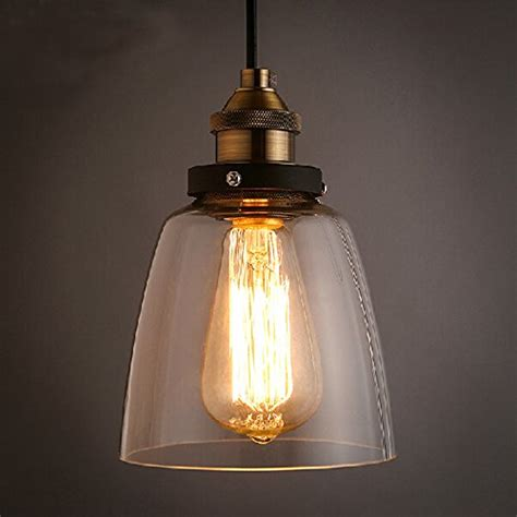 loft antique clear glass bell pendant lighting winsoon 5 5 x 9 5 inch design vintage industrial ceiling
