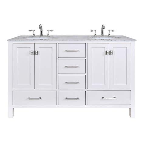 stufurhome 60quot lissa double sink bathroom vanity pure