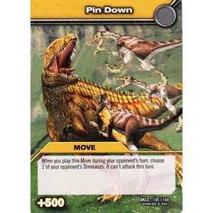 upper deck dinosaur king card dkcg 105 pin down common