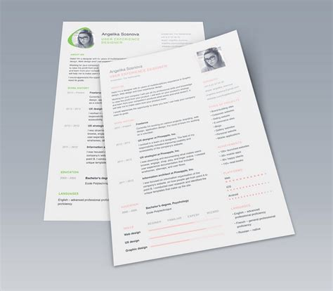 psd resume template 10 creative resume free psd templates phire base