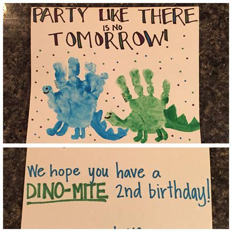 card handprint dinosaur handprint birthday card a team artwork