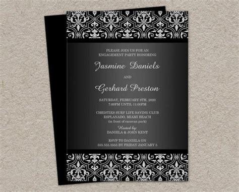 printable elegant birthday invitations elegant damask engagement invitation printable damask
