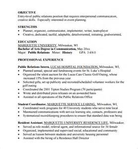 Entry Level Resume Exles by Entry Level Resume 11 Free Documents In Pdf Word Sle Templates