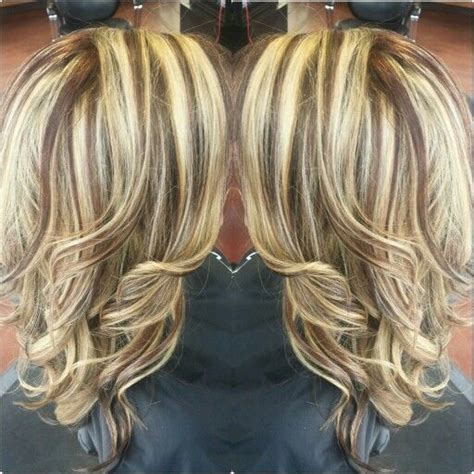 thin highlights vs chunky highlights red and blonde highlights and lowlights chunky sliced