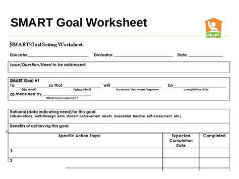 Smart Goal Setting Worksheet by Smart Goals Worksheet School Images
