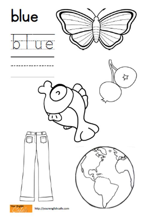 coloring page of blue blue coloring worksheets pre k coloring pages