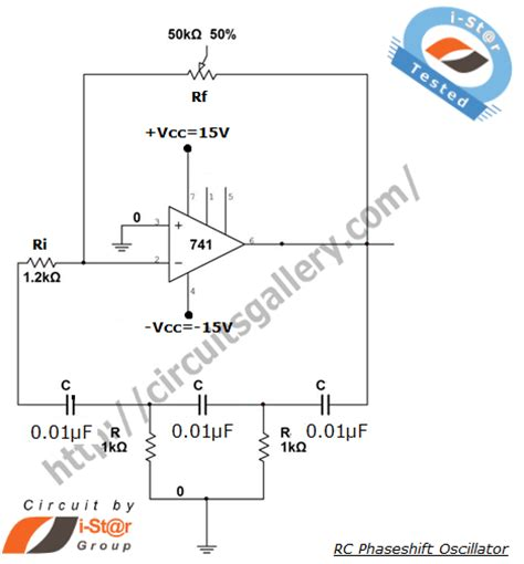 transistor lifier phase shift rc phase shift oscillator using transistor bjt circuit working circuits gallery