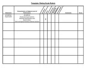 Grading Template by 17 Best Images About Rad Rubrics Rubrics Rating Scale