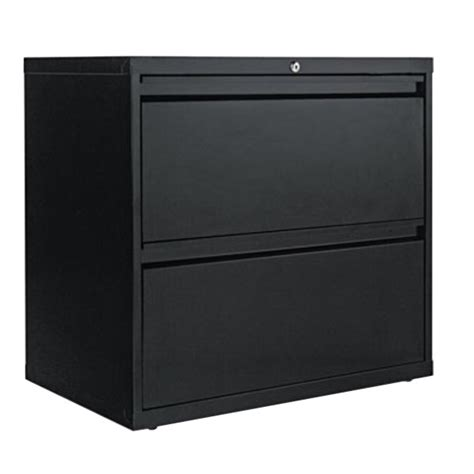 2 Drawer Lateral File Cabinet Metal Black by Alera Alelf3029bl Black Two Drawer Metal Lateral File