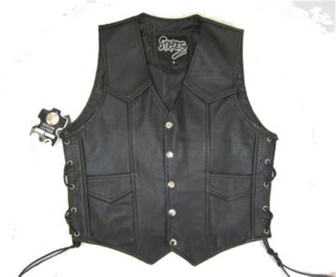 Motorcycle Apparel Fredericton by Classic Style Motorcycle Biker Vest Authentic Leather
