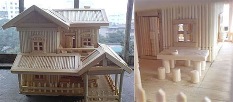 toothpick house amazing architecture made of toothpicks design swan
