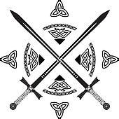Sword Print Poster High Quality clip of celtic swords k12136298 search clipart