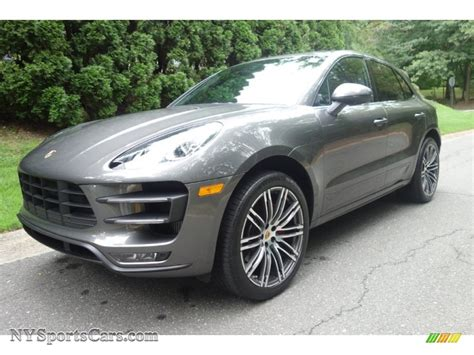 porsche macan agate grey 2016 porsche macan turbo in agate grey metallic b91255