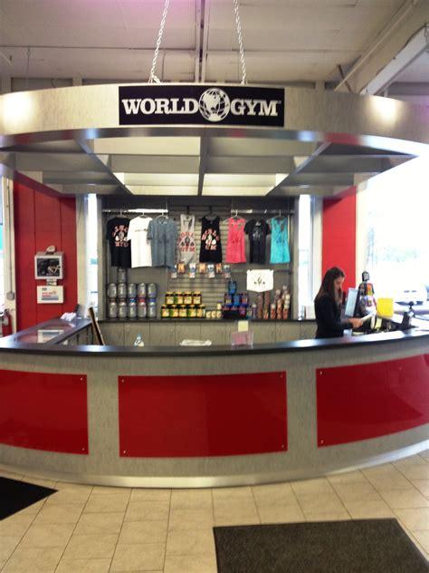 fitness center reception desk  world gym creative