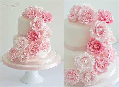 Fiori Chocolate Sugar Box wedding pink cascade wedding cake 2121479