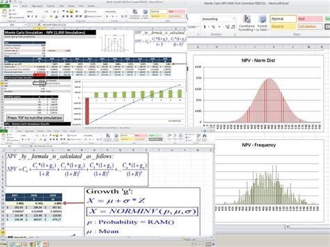 Monte Carlo Simulation Excel Template by Monte Carlo Simulation Npv Exle