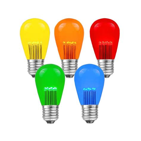 colored led light bulbs shop multi colored outdoor string lights globe lights