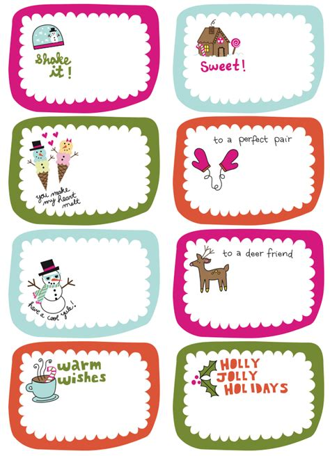 free printable christmas tags that you can type on frugal life project free printable gift tags