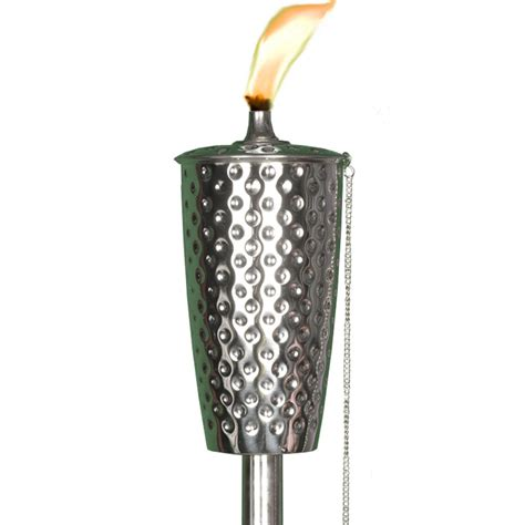 dimpled tiki torch