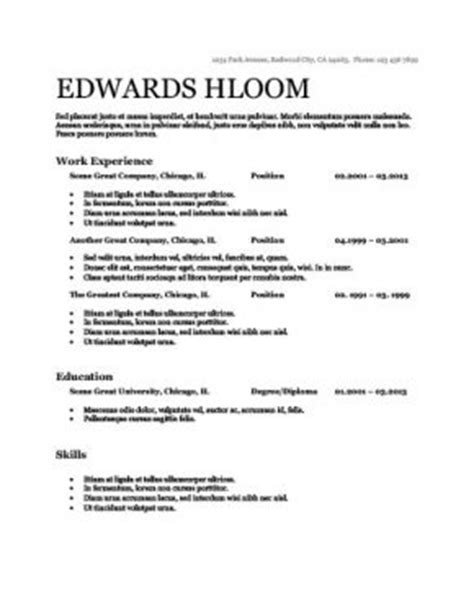 ats friendly resume templates format 27 sles