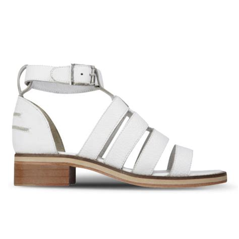 Kickers Boots White Sol sol sana s celeste heeled leather sandals white