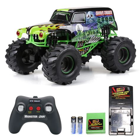 rc monster jam trucks for sale amazon com new bright 61030g 9 6v monster jam grave