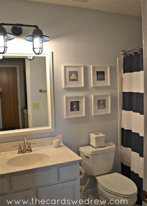 10 bathroom vanity lighting ideas the cards we drew nautical bathroom makeover the cards we drew