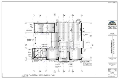 floor framing plan monsef donogh design grouphoang residence sheet a203