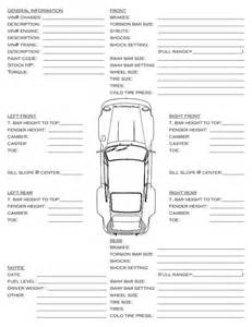 race car setup sheet template car set up info sheet pelican parts technical bbs