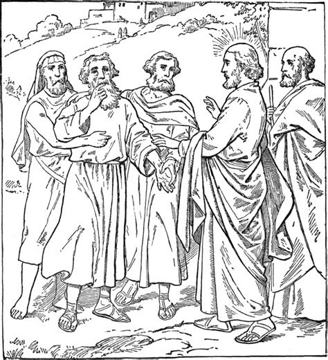 jesus heals lepers coloring page lds coloring pages