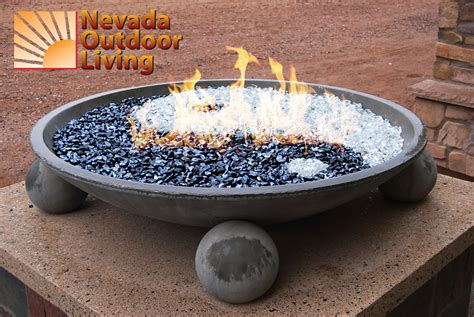 Glass Firepit Prefabricated Pit With Yin And Yang Glass Design Nevada Outdoor Living News