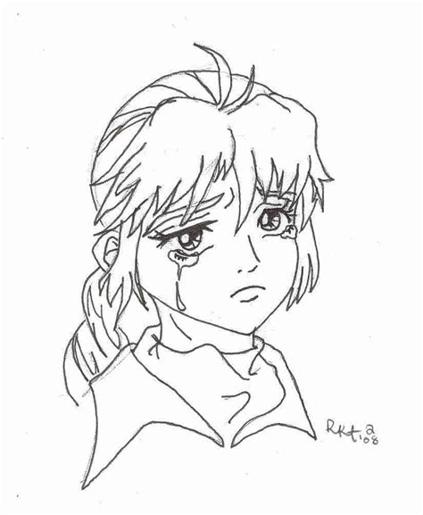 coloring pages of girl crying sad anime girl coloring crying pages and grig3 org