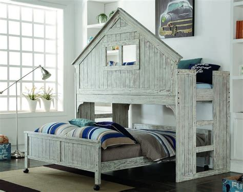 bunk bed with space underneath kids twin club house loft or bunk bed add full bed or storage space underneath