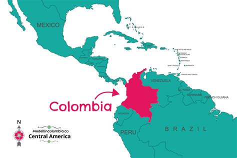 colombia on world map where is medellin located medellincolombia co