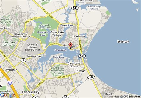 map of seabrook texas map of hton inn houston bay area nasa area tx seabrook