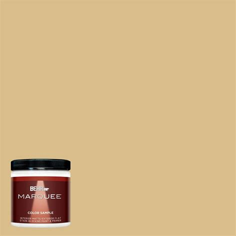 behr marquee 8 oz mq2 18 honey tea interior exterior paint sle mq30416 the home depot