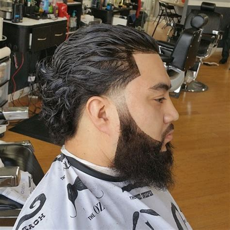 hairstyle that is slick in the front and curly in the back 20 trendy slicked back hair styles