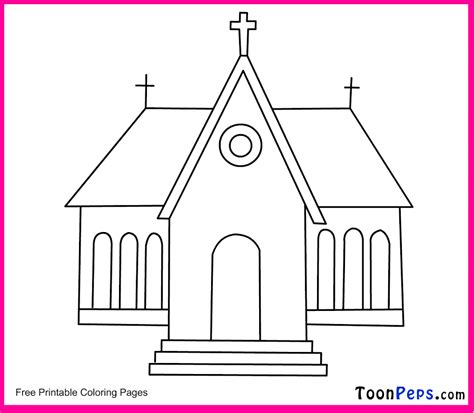 Free Coloring Pages Of Church To Colour In Coloring Pages For Children S Church