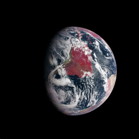 false color image image false color image of earth highlights plant growth