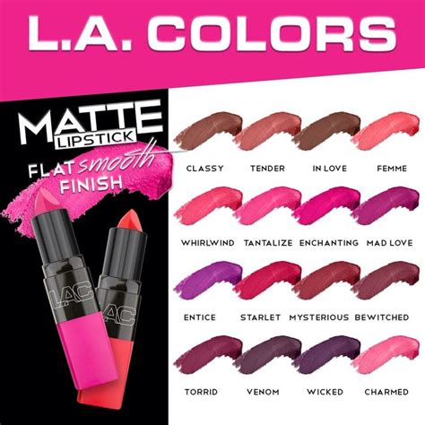 Lipstik La 25 best ideas about la colors matte lipstick on