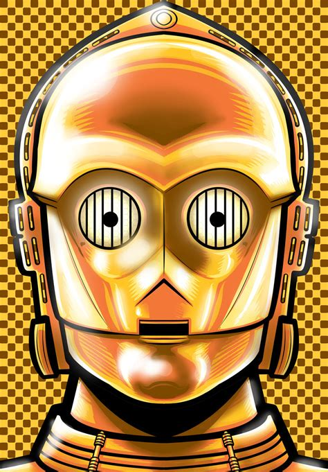 c 3po portrait series by thuddleston on deviantart