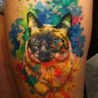 watercolor tattoo københavn watercolor cat tattooimages biz