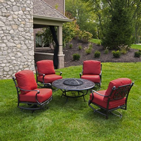 Patio Set With Fire Pit Patio Design Ideas Firepit Chairs