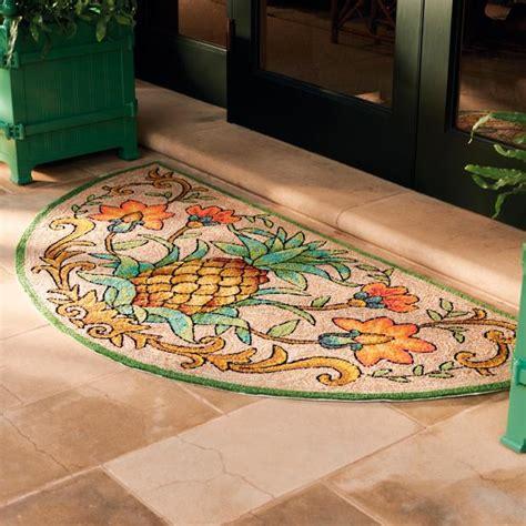 Frontgate Doormats - tropical pineapple door mat frontgate